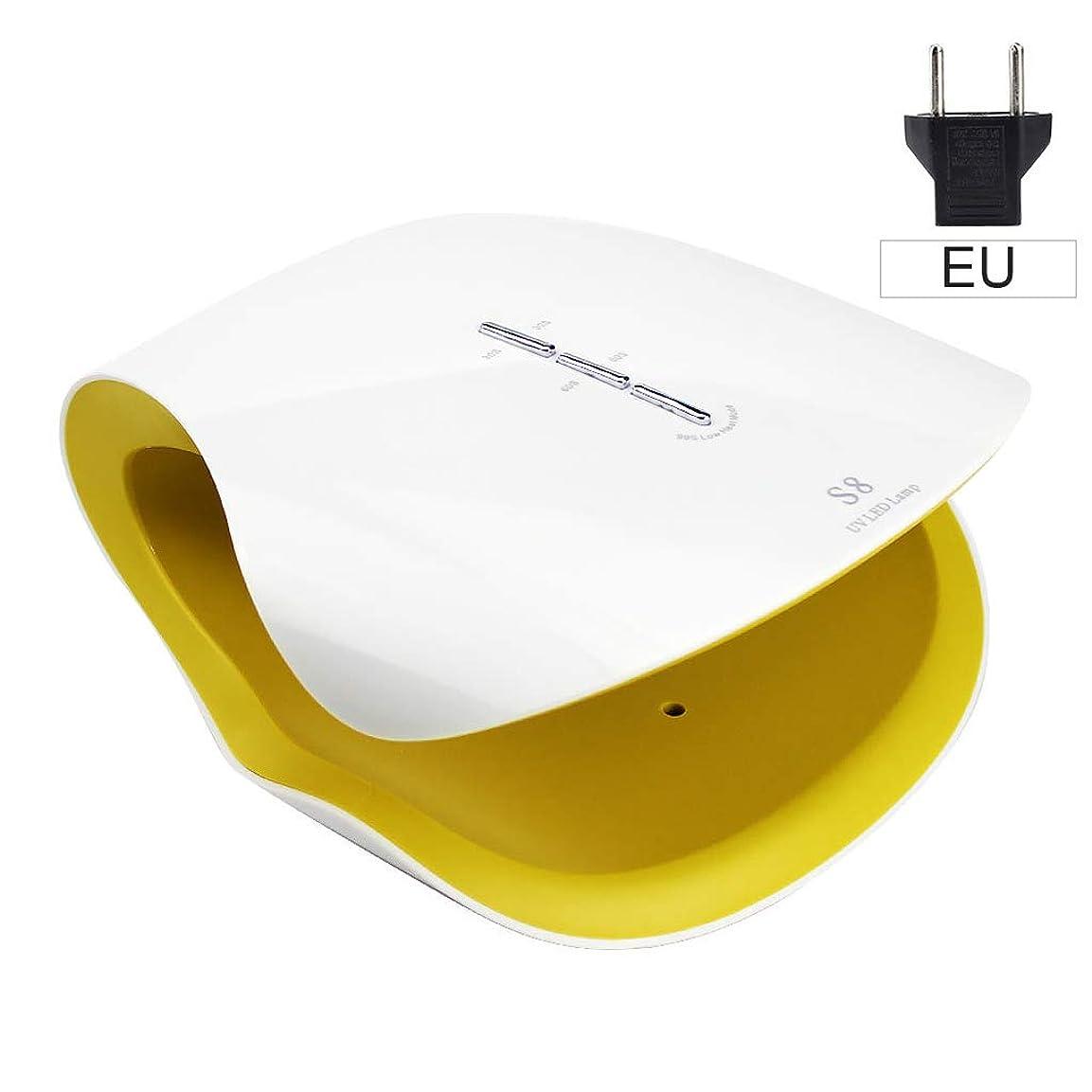ハプニング容量郵便屋さん爪光療法機、洗練された乾燥インテリジェント誘導爪ランプ、高速乾燥爪のマシン (色 : 白)