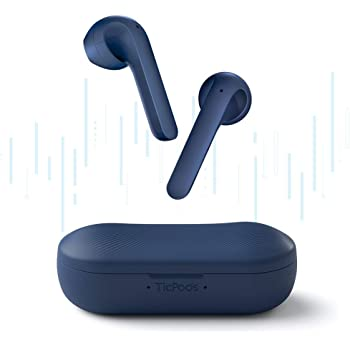 TicPods 2 Pro True Wireless Earbuds,TWS Earbud,Bluetooth 5.0 Earphones with Dual-Mic,Semi-in-ear Design,Voice Assistant,Head Gesture,Touch Controls,Quick-Commands,IPX4 Water Resistant,20H Battery,Navy