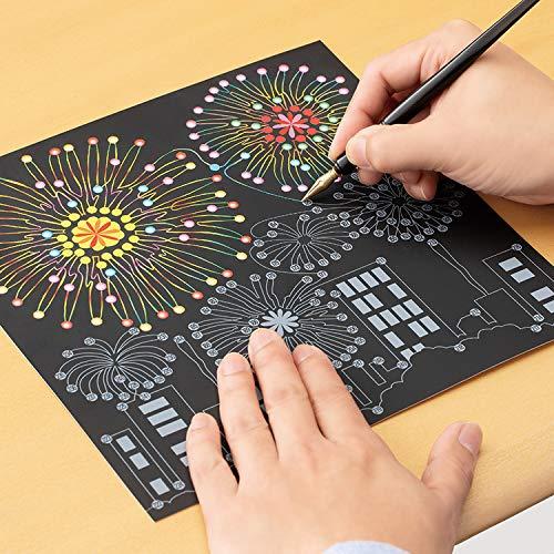 メイダイ(MEIDAI)ぬりえ大人塗り絵アートパネルスクラッチアートスクラッチシート専用ペン付きアートペン(楽しく脳トレスクラッチアート)
