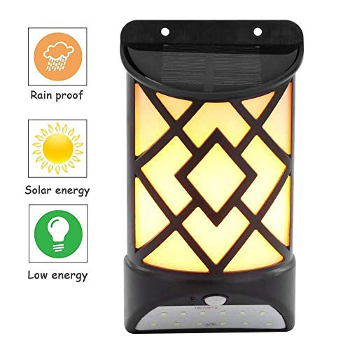 Sthfficial 2 in 1 zonnepaneel stroomvoorziening LED PIR-bewegingssensor lamp veiligheid nachtlicht omheining tuin decoratie wandlamp