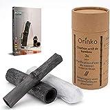 Vibratis Binchotan Orgánico 3x - Carbón Activo Binchotan de Bambú para Purificación de Agua de Grifo en Jarra