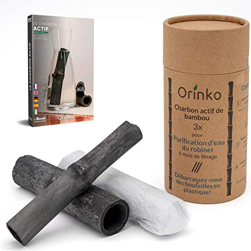 Bambu Binchotan 3x | Aktivkohle Wasserfilter aus Bambus zur Reinigung von Wasser in Karaffe