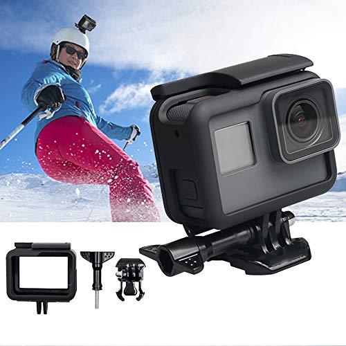 XuBa Plastic Frame Case voor Go=pro Hero 5/6/7 Zwart Camera Verticale Bescherming Sport Camera Draagbare Standaard Cover