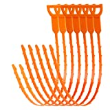 AUSSUA 25 Inch Hair Drain Cleaner Tool and 20 Inch Sink Drain Clog Remover Cleaning Tool, 7 in 1 Drain Augers Hair Catcher, Hair Cather Shower Drain Tools for Kitchen, Sink, Bathroom, Sewer