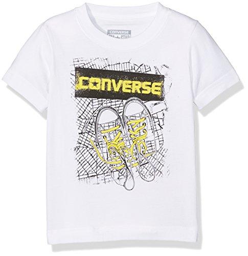 Converse Jungen Jogginganzug Bk Map Tee, Weiß (White 001), 9-10 Jahre