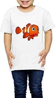 Nemo Toddler Short Sleeve T-Shirt Cozy Top Little Boy & Girl White