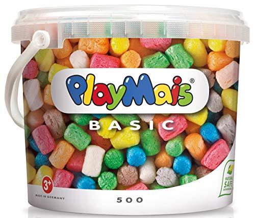 PlayMais Basic 500 Bastelset für Kinder ab 3 Jahren | Basteleimer mit über 500 bunten Basteln | Natürliches Spielzeug | Fördert Kreativität & Motorik | Geschenk für Mädchen & Jungen