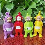 Muñeca de teletubbies de dibujos animados para niños Figura de regalos de Navidad Figura PVC Modelo Muñecas de juguetes de dibujos animados caliente