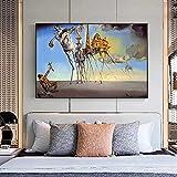 Surrealismo de Salvador Dali Pinturas en lienzo Carteles e impresiones famosos Cuadros artísticos de pared para la decoración del hogar de la sala de estar 70x90cm (28x35in) Sin marco
