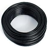 Cable para altavoz (2 x 0,75 mm², 10 m, CCA, cable de audio), color negro