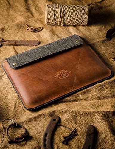 iPad Pro 12.9 inch, iPad 10.2 Zoll Ledertasche/Hülle | Classic Brown, iPad Pro 11 Zoll, 100% Wollfilz, Apple, Vintage Crazy Horse Leder Tablettständer NEW 2020 iPad Air 10.9 Cover, Crazy Horse Craft