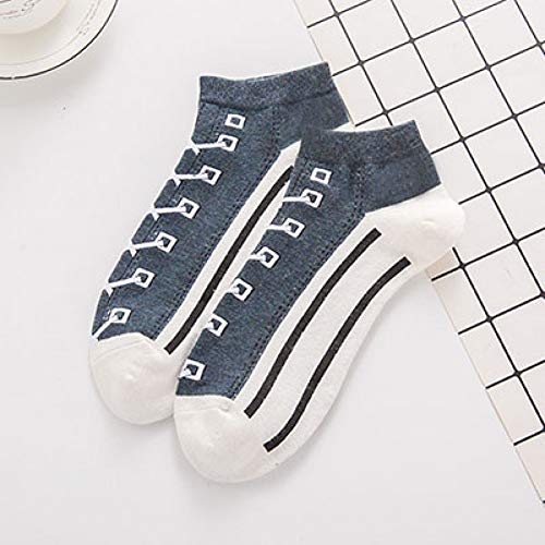 DYCZWZ Freizeit Sport Socken 2 Paare Unisex Bequeme Canvas Baumwolle Jugendstil Socken Hausschuhe Söckchen Winddichte Socken