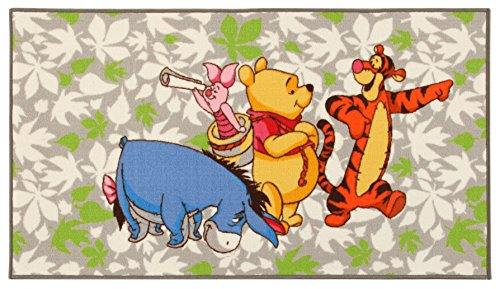 Disney Action LINE Winnie & Friends tapijt, synthetische vezels, meerkleurig, 80 x 140 x 1,12 cm