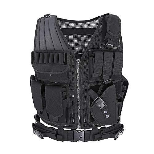 MGFLASHFORCE Tactical Vest Breathable Adjustable Assault Vest Law Enforcement Lightweight Combat Training Vest