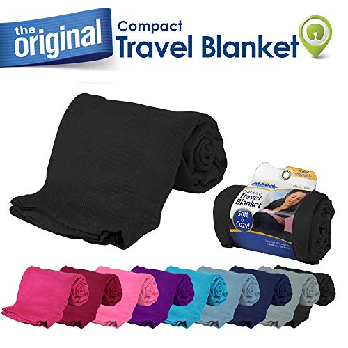 Cloudz Compact Travel Blanket - Black