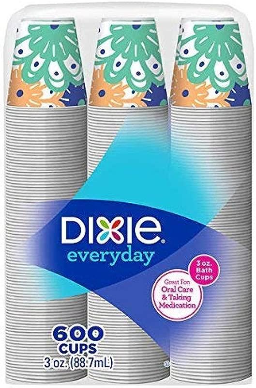 Dixie Bath Cups Coordinating Designs 3 Oz 600Count