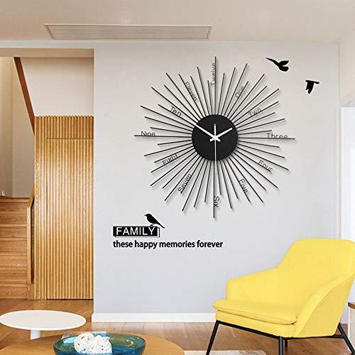 Chef Turk Personalidad Relojes Europeos Reloj De Pared De Metal Creativo Reloj De Decoración del Hogar Redondo