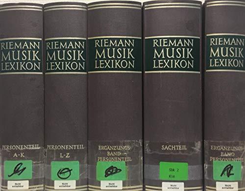 Riemann Musiklexikon 1959 - 5 Bände - Personenteil A-K und L-Z - 2 mal Ergänzungsteil und Personenteil - 1 mal Sachteil