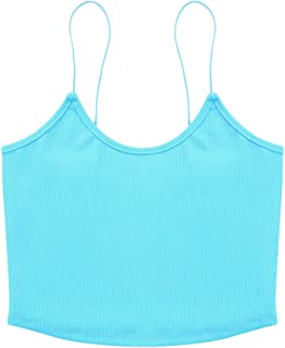 NVDENIMME Women's Cami Bra Spaghetti Strap Tank Top Sleeping Bra for Women Workout Running Shirts Yoga Bra
