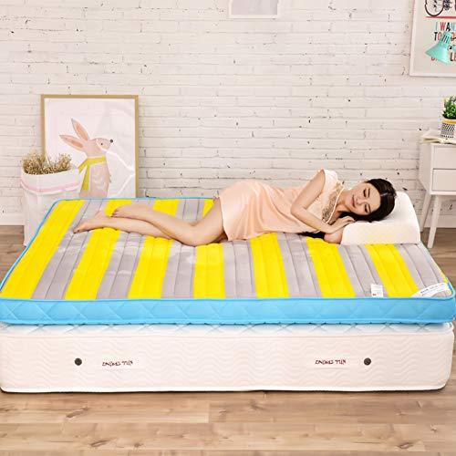 fgdjtyyj Alfombrilla plegable Tatami para el suelo, transpirable, antideslizante, para colchón grueso, para el futón, colchón, para cama de 90 x 190 cm