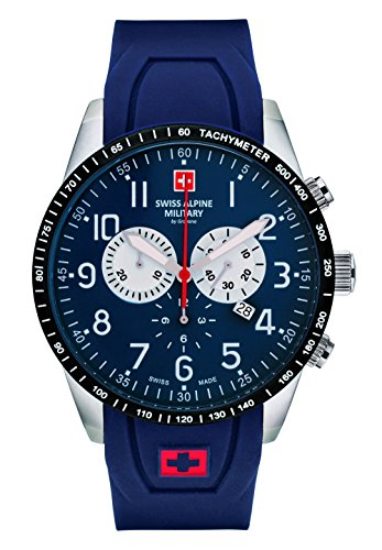 Swiss Alpine Military by Grovana Herrenuhr Chrono 10 ATM Blue 7082.9835SAM