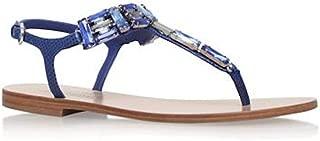 SALVATORE FERRAGAMO Womens Gelsino Open Toe Casual Ankle, Ocean Calf, Size 6.0