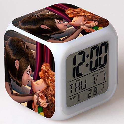 Kids Wizard Hostel Alarm Clocks Kids LED Clock Cartoon Night Light Flash 7 Color Changing Digital Clock Electronic Desk Clock a37