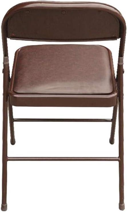 MKJYDM Chaise Pliante Noir/Marron en Acier, Assise en polyuréthane Chaise (Color : Brown) Brown