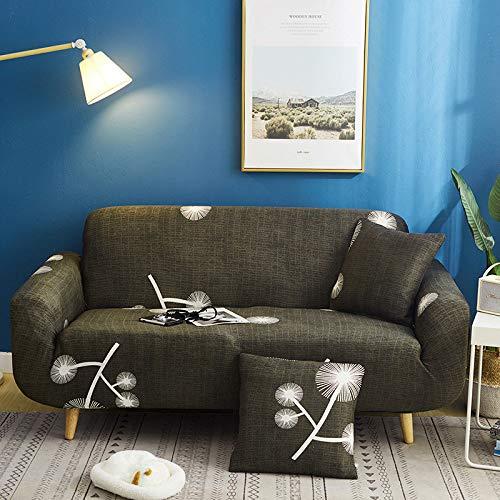 ASCV Funda de sofá elástica con Estampado Floral Estilo de línea Fundas de sofá elásticas para Sala de Estar Funda de sofá Funda de sofá seccional A6 4 plazas