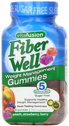 Vitafusion Fiber Weight Management Fiber Supplement Gummies, Strawberry Berry - 90 Ea, 3 Pack
