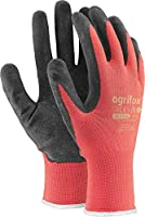 24 Pairs of Latex-Coated Work Gloves, red