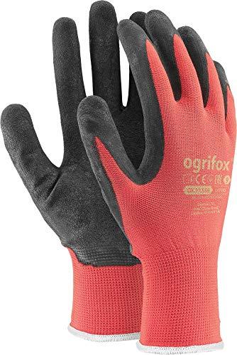 Ogrifox - 24pares de guantes de trabajo con recubrimiento de látex seguro, resistentes, para jardinería y albañilería