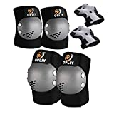Kids Protective Gear, Knee and Elbow Pads with Wrist Guards for Roller Skating Cycling Skateboard Bike Scooter Rollerblade Safety Gear for Kids 2-7 Years Old