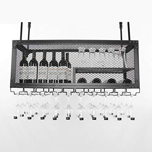 LXYPLM-WR1 Wine Rack Wine Organizer Rack Wine Rack Bar Wine Glass Rack Hanging Hanging Glass Rack Creative Wine Cabinet Goblet Rack Wine Rack for Bars Restaurants Kitchens (Size : 44 * 30 * 100cm)