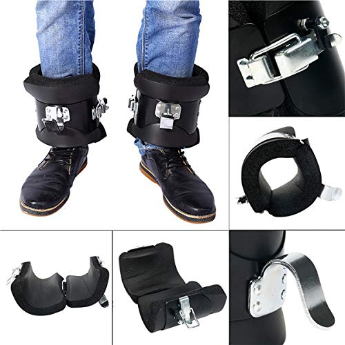 YaeTek Anti Gravity Inversion Hang Up Boots Inversion Boots Gravity Compression Relief Exercise Recovery with Contoured Pads