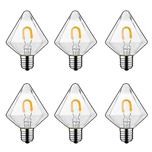 E14 lamphouder, LED-lamp, kaarslicht, metselwerk, U-vormige lichtbron AC 220V, 2700K kleurtemperatuur, vermogen 1W 150LM helderheid, 6 stuks G45J-220-E14-1W