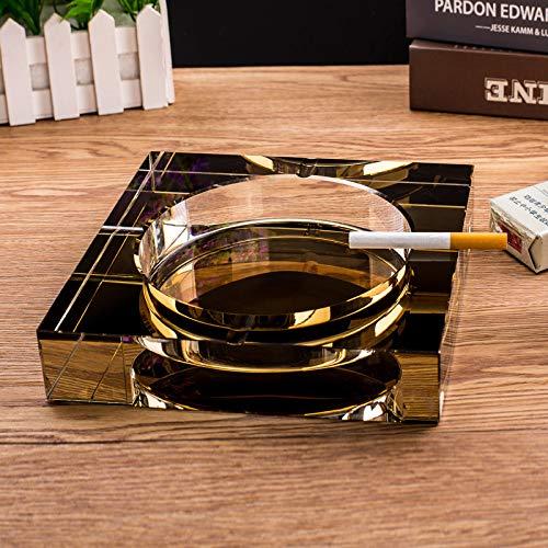 SHUNHUI Transparente Glas Aschenbecher Kristall Auto Nach Hause Aschenbecher Stilvolle Quadratische Hotel Wohnzimmer Schlafzimmer Nach Hause Aschenbecher Dekoration