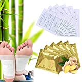 Foot Pads, 120 Pcs Outgeek Natural Bamboo Vinegar Ginger Foot Wipes Foot Care Patches Adhesive Sheets for Relieve Stress Body Cleanse Sleep Better All Natural