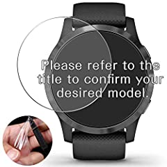 ★[Not Tempered Glass] Please be noted that this screen protector is TPU Soft Film, Not Tempered Glass. ★[Scratch Resistant] Protector can effectively protect your smartwatch from unwanted scuffs and scratches by knife, keys and some other hard substa...