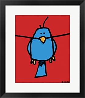 Hang In by Ed Heck Framed Art Print Wall Picture, Black Frame, 20 x 23 inches
