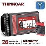 thinkcar ThinkTool Mini Outil OBD2 Scanner Diagnostic Voiture pour Diagnostics des Systèmes Complets, Valise Diagnostique OBD2 Bluetooth avec 28 Fonctions de Réinitialisation,Fonctions OBD2 complètes