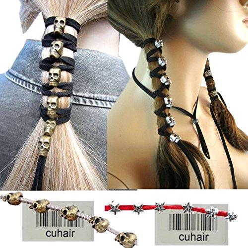 cuhair 4 pièce Top Élastique Long Crâne Étoiles Conception Pour Femmes Cheveux Cravate Queue de cheval queue de Cheval Bande de Cheveux Corde À Cheveux Cheveux En Caoutchouc Accessoires