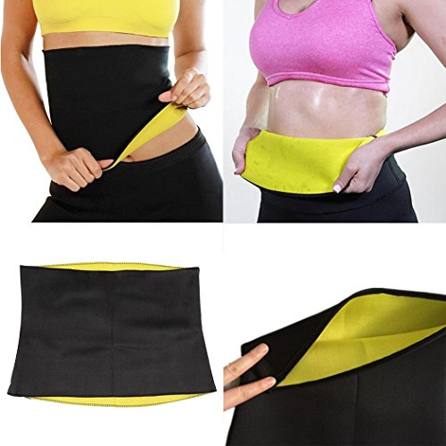 Voiks Sweat Shaper Hot Slimming Belt. Slimming and Fitness Flat Stomach Neoprene...