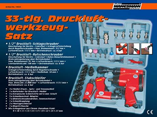 Mannesmann Druckluftwerkzeug-Satz, 33-tlg - 4