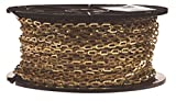 Campbell 0723817 Brass Plumbers Chain on Reel, Bright, 1/0 Trade, 0.02' Diameter, 200' Length, 35 lbs Load Capacity