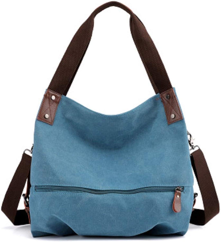 Qiusa Schulterriemen Abnehmbare Leinwand Handtaschen Schultertasche Messenger Bag Bag Bag Student Pendler Tasche (Farbe   Blau) B07G5R6519  Moderate Kosten 3dade3