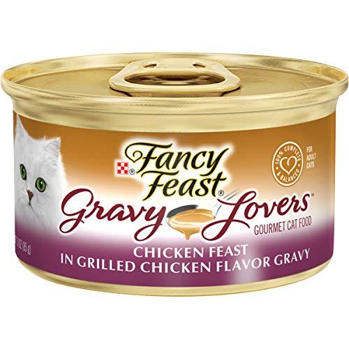Purina Fancy Feast Gravy Wet Cat Food, Gravy Lovers Chicken Feast in Grilled Chicken Flavor Gravy - (24) 3 oz. Cans