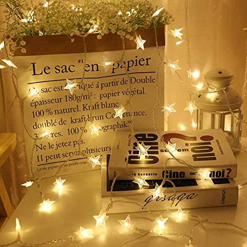 Feli546Bruce Lichterkette, USB 20LED Stern Lichterkette Weihnachten Urlaub Party Zimmer Garten Dekor Vorhang Lichter DIY Lichter für Party Geburtstag Weihnachten Hochzeit Zuhause Tischdekoration