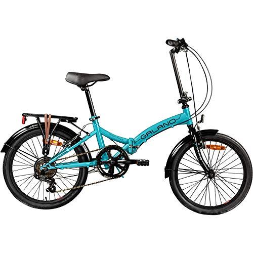 Galano Klapprad 20 Zoll Fahrrad Faltrad Metropolis Campingrad Citybike - 2