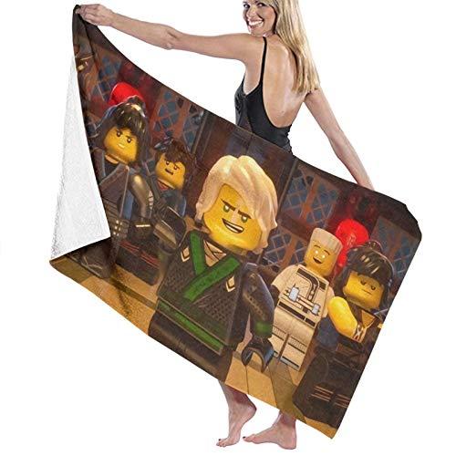 Ninjago Toallas de playa de secado rápido para viajes, toalla absorbente para nadadores, toalla libre de arena, toallas de playa grandes para niños y adultos